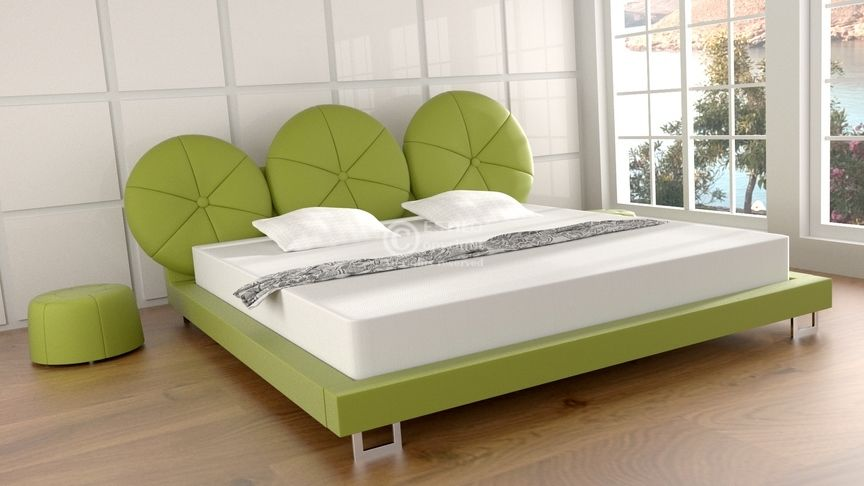 Łóżko do sypialni MIRABELLA - skóra naturalna