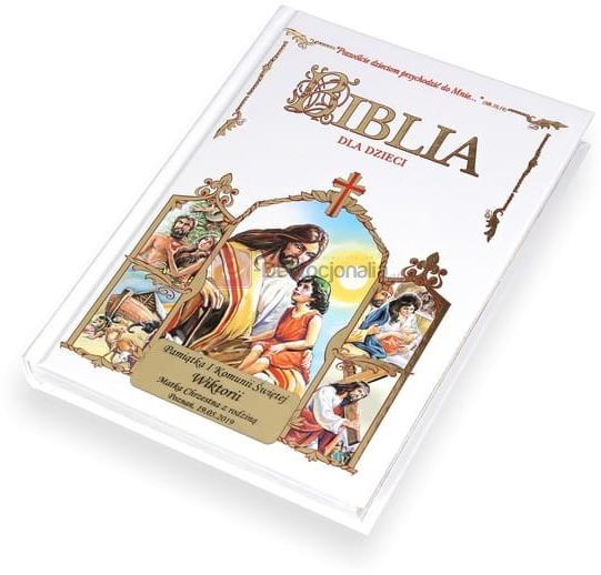 Biblia dla dzieci. Grawerowana dedykacja. Pamiątka Chrztu Komunii