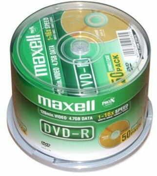 Maxell plyta DVD-R 4,7GB 16x cake 50