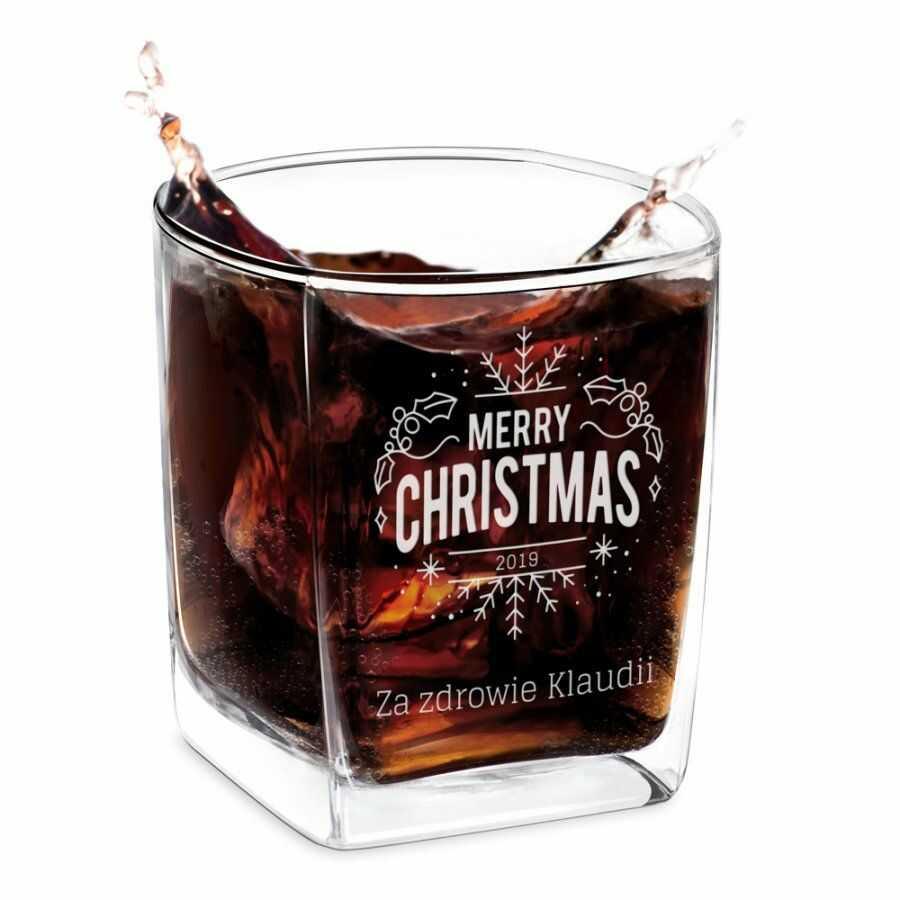 Szklanka do whisky z grawerem dla niej na święta