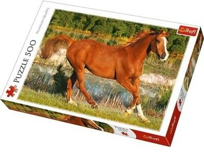 Puzzle TREFL 500 - Piękno galopu, The beauty of gallop