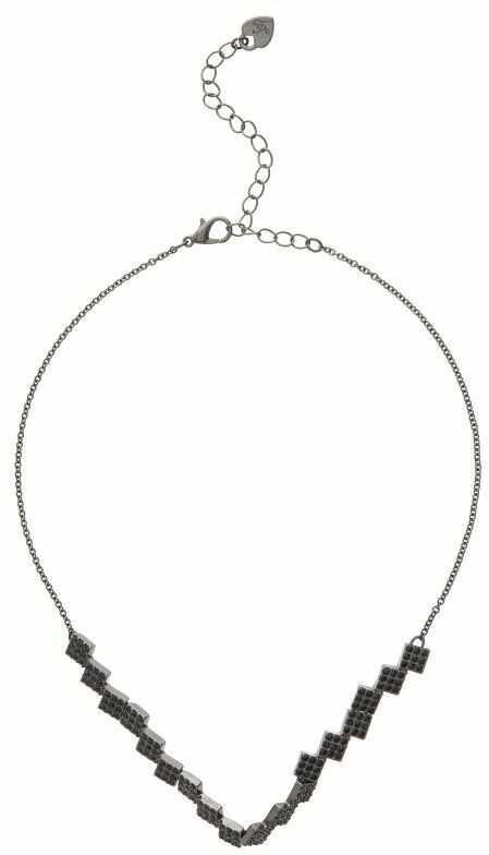 Biżuteria damska Lipsy Jewellery Square Pave Choker Necklace 8687