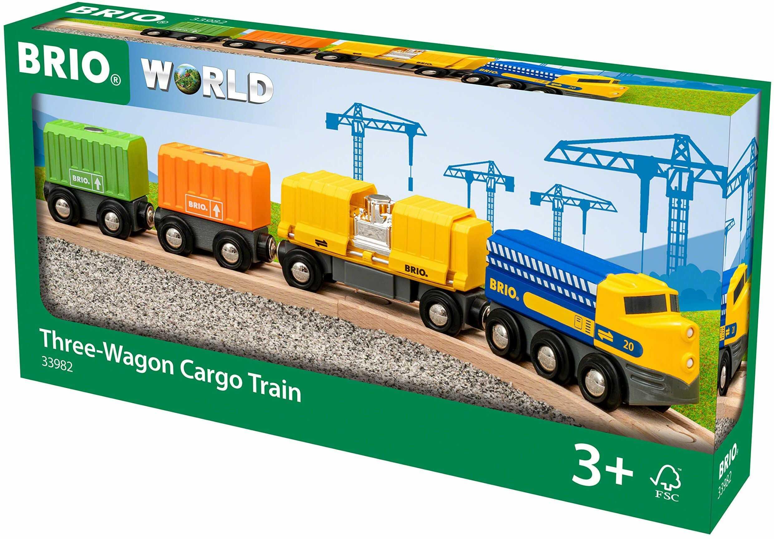 BRIO Świat - trzy wagony pociąg ładunkowy