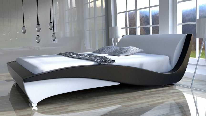 Łóżko do sypialni FLAMENCO - skóra naturalna