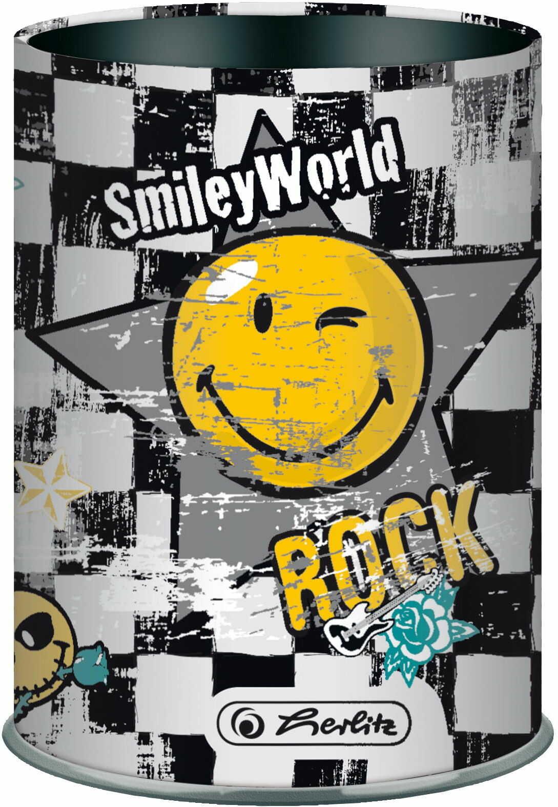 Przybornik metalowy Smiley World rock Herlitz