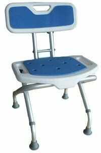 Krzesełko prysznicowe składane BLUE