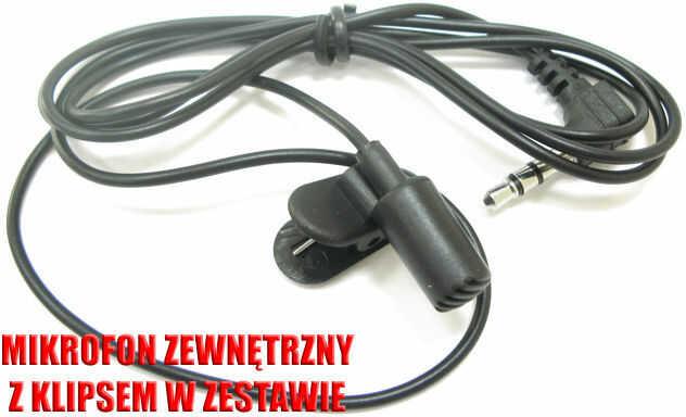 Dyskretny Mikrofon Zewnętrzny (średnica 5mm!) do Rejestratorów Dźwięku/Dyktafonów.