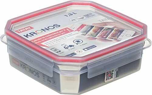 Tatay pojemnik na żywność kwadratowy 18,8 x 18,8 x 6 półprzezroczysty