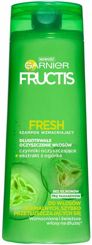 GARNIER - FRUCTIS FRESH - Wzmacniająco-oczyszczający szampon do włosów normalnych i przetłuszczających się - 250 ml