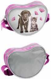 FACTORYCR torba na ramię Cat&Dog, Lachaelhale, 18 x 14 x 5 cm, dla dzieci, wielokolorowa, 14 x 18 x 5 (RLA-6301)