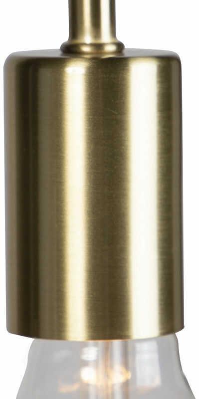 QAZQA Nowoczesna lampa podłogowa mosiądz - Facil