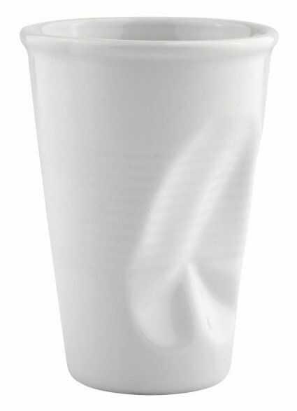"""KJ Collection PAPER CUP """"Zgnieciony"""" Kubek do Kawy 200 ml Biały"""