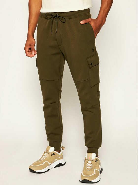 Polo Ralph Lauren Spodnie dresowe Classics 710730495006 Zielony Regular Fit