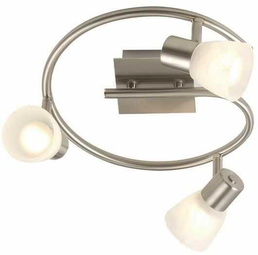 Globo plafon lampa sufitowa Parry 54530-3 potrójna, szkło alabastrowe 28cm