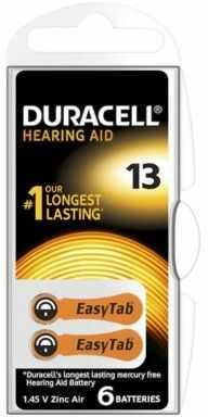 Baterie do aparatów słuchowych DURACELL HA13 P6 6szt.. > DARMOWA DOSTAWA ODBIÓR W 29 MIN DOGODNE RATY