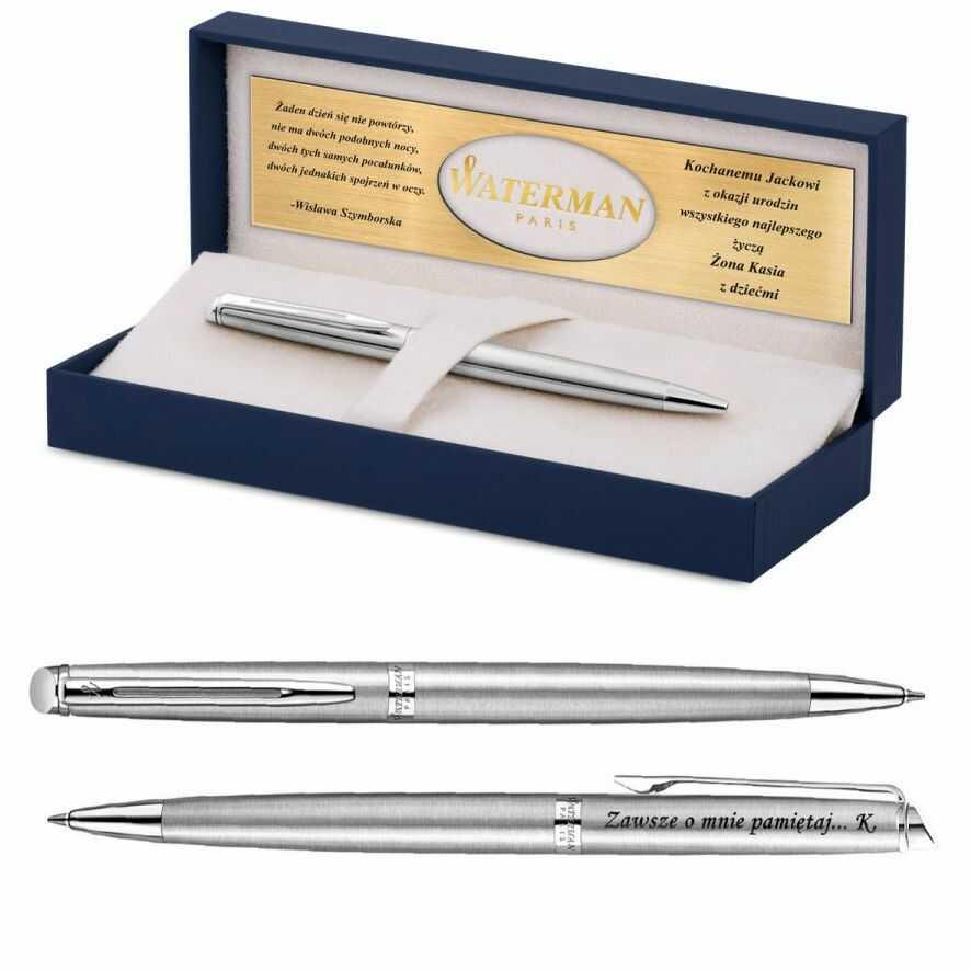 Długopis Etui WATERMAN Hemisphere Stalowy CT