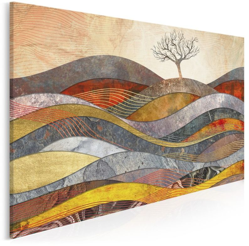 Wzgórze cudów - nowoczesny obraz na płótnie - 120x80 cm