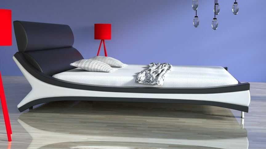 Łóżko do sypialni REBEL - skóra naturalna