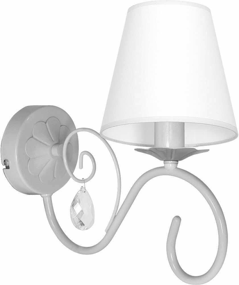 Milagro SARA GREY MLP1056 kinkiet lampa ścienna szary bogate zdobienie kryształki 1xE14 30cm