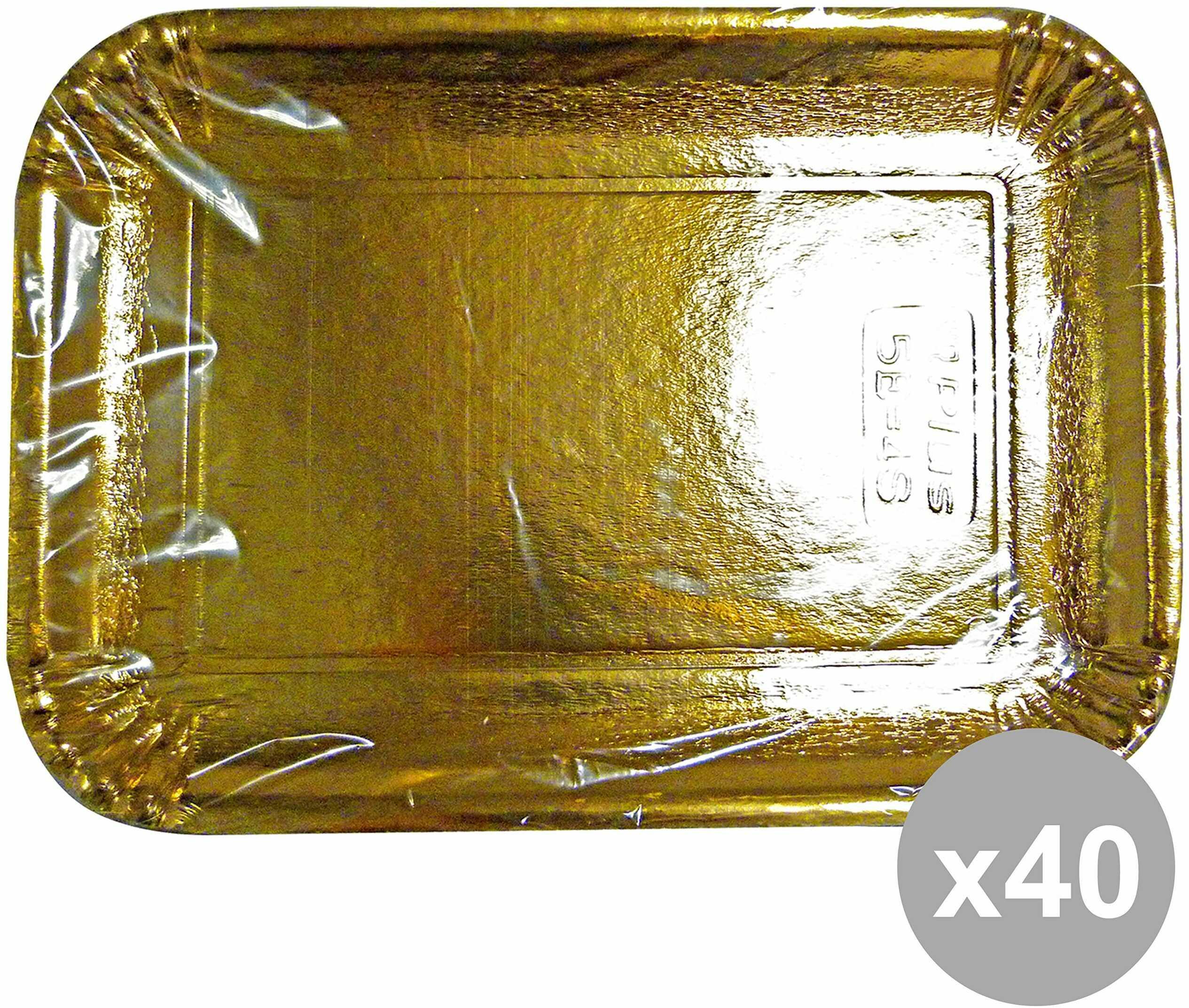 Zestaw 40 tac, papier prostokątny, złoty 25 x 34 cm. * 3 sztuki 63072 pojemniki do kuchni