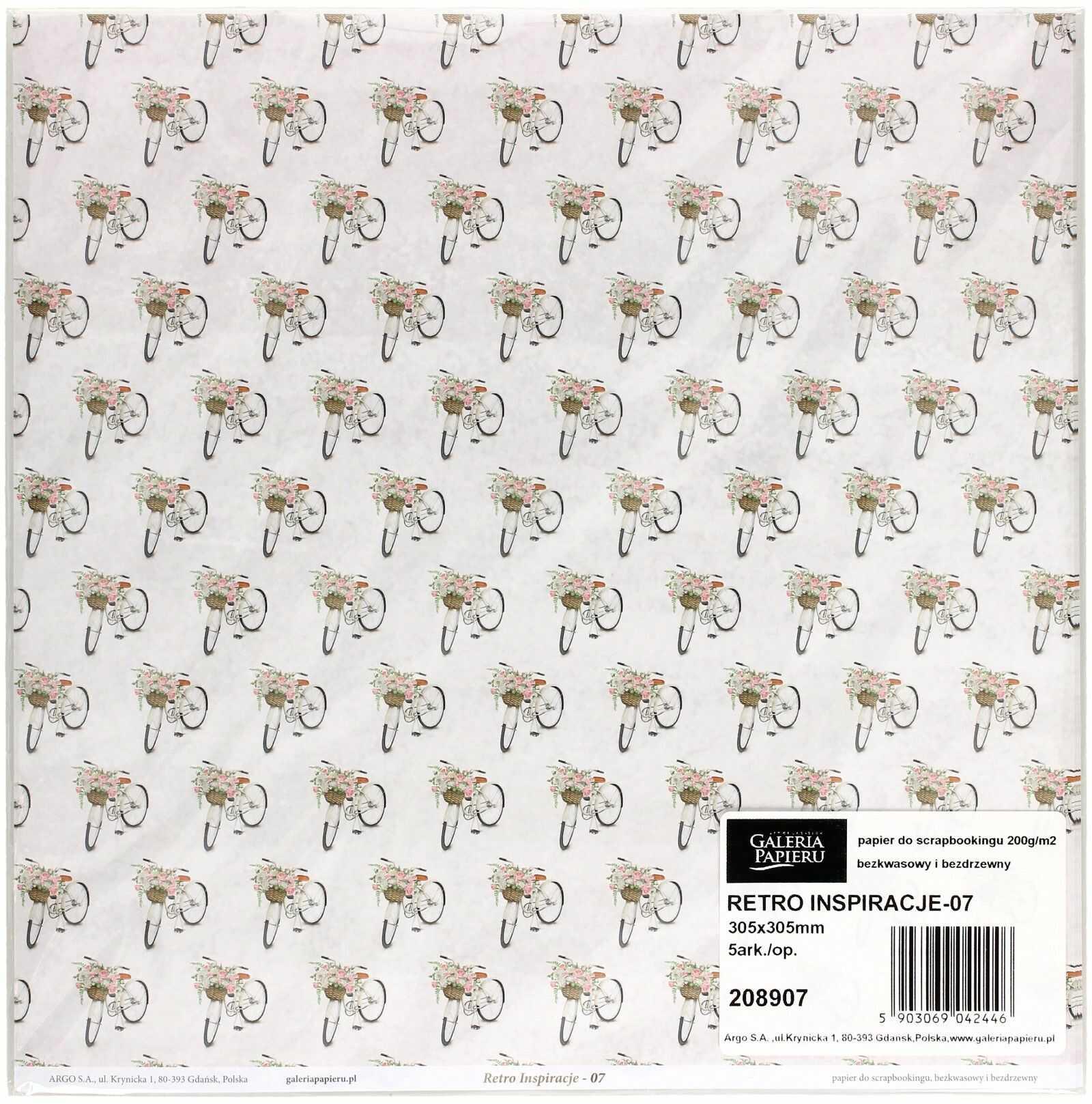 Papier scrapbooking 305x305 Retro Inspiracje/07 (5)