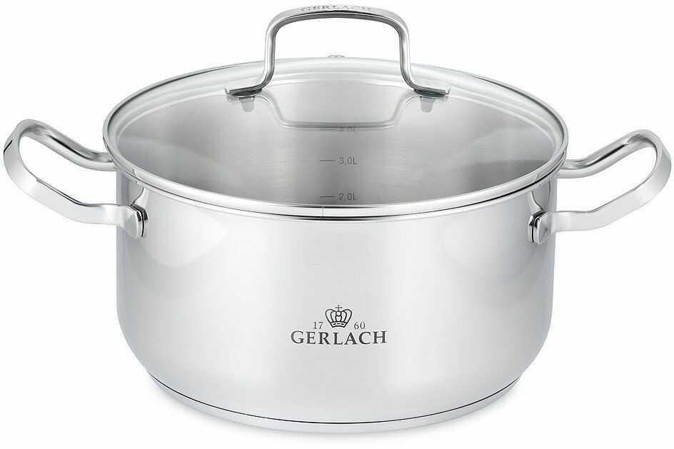 Gerlach Nk 332 Garnek ,Srebro ,4.5 L