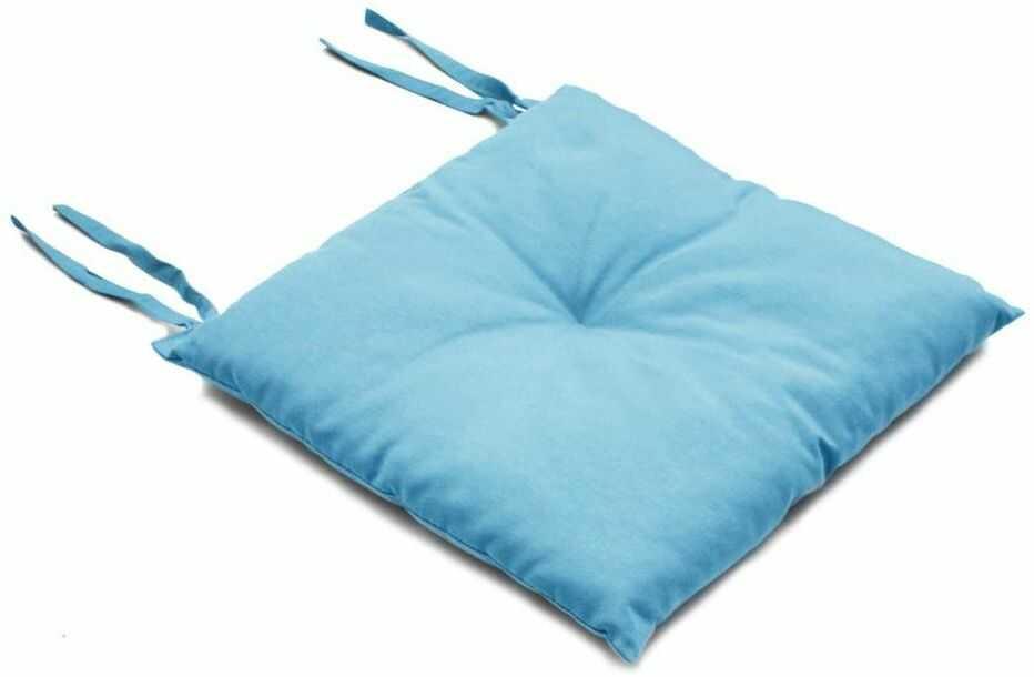 Poduszka na krzesło SILLA niebieska 40 x 40 x 2 cm