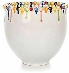 EUROCINSA Ref.16145 wazon ceramiczny, biały, wielokolorowy, 28 x 26,5 cm