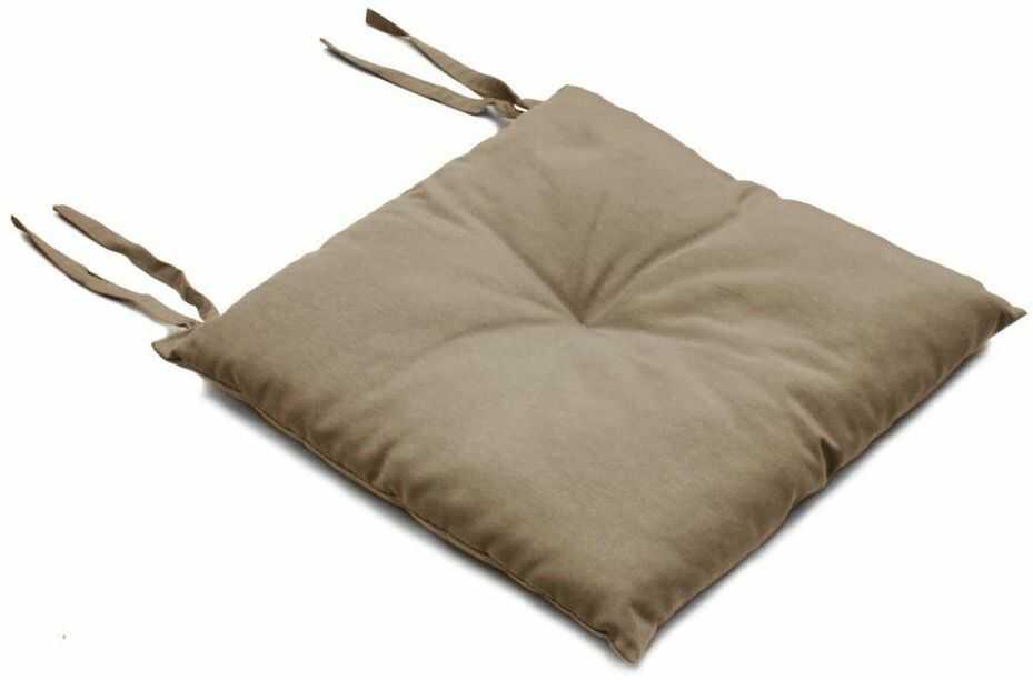 Poduszka na krzesło SILLA beżowa taupe 40 x 40 x 2 cm