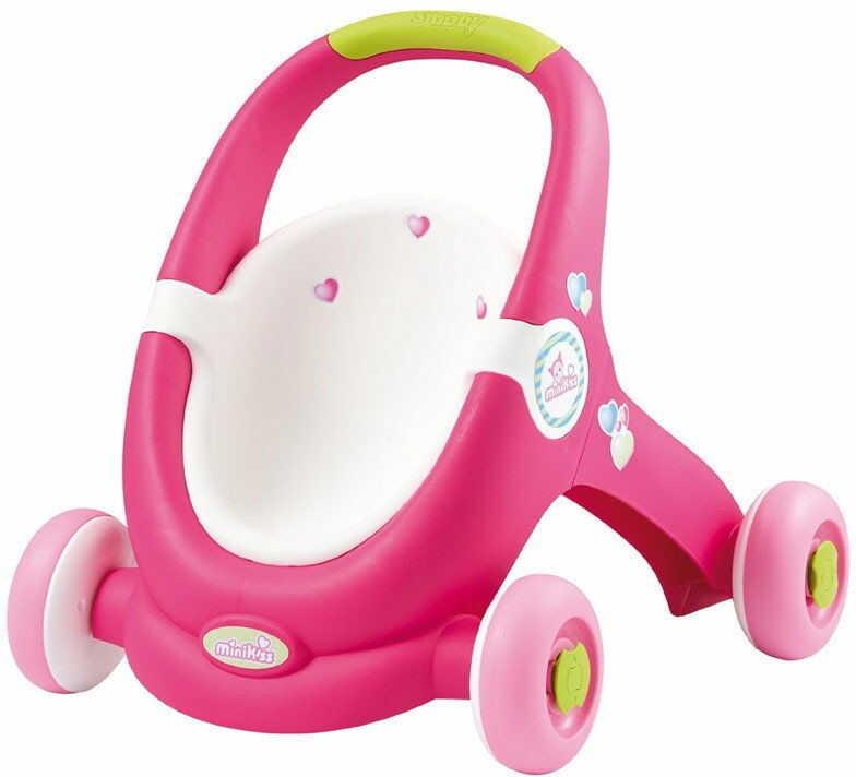 Smoby Minikiss - Pierwszy wózek dla lalki i chodzik 2w1 210201