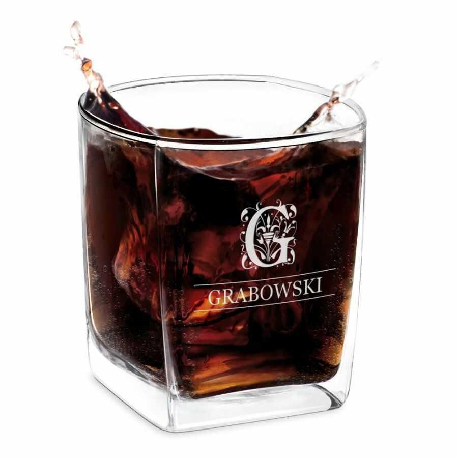 Szklanka do Whisky Grawer Inicjał dla Niego