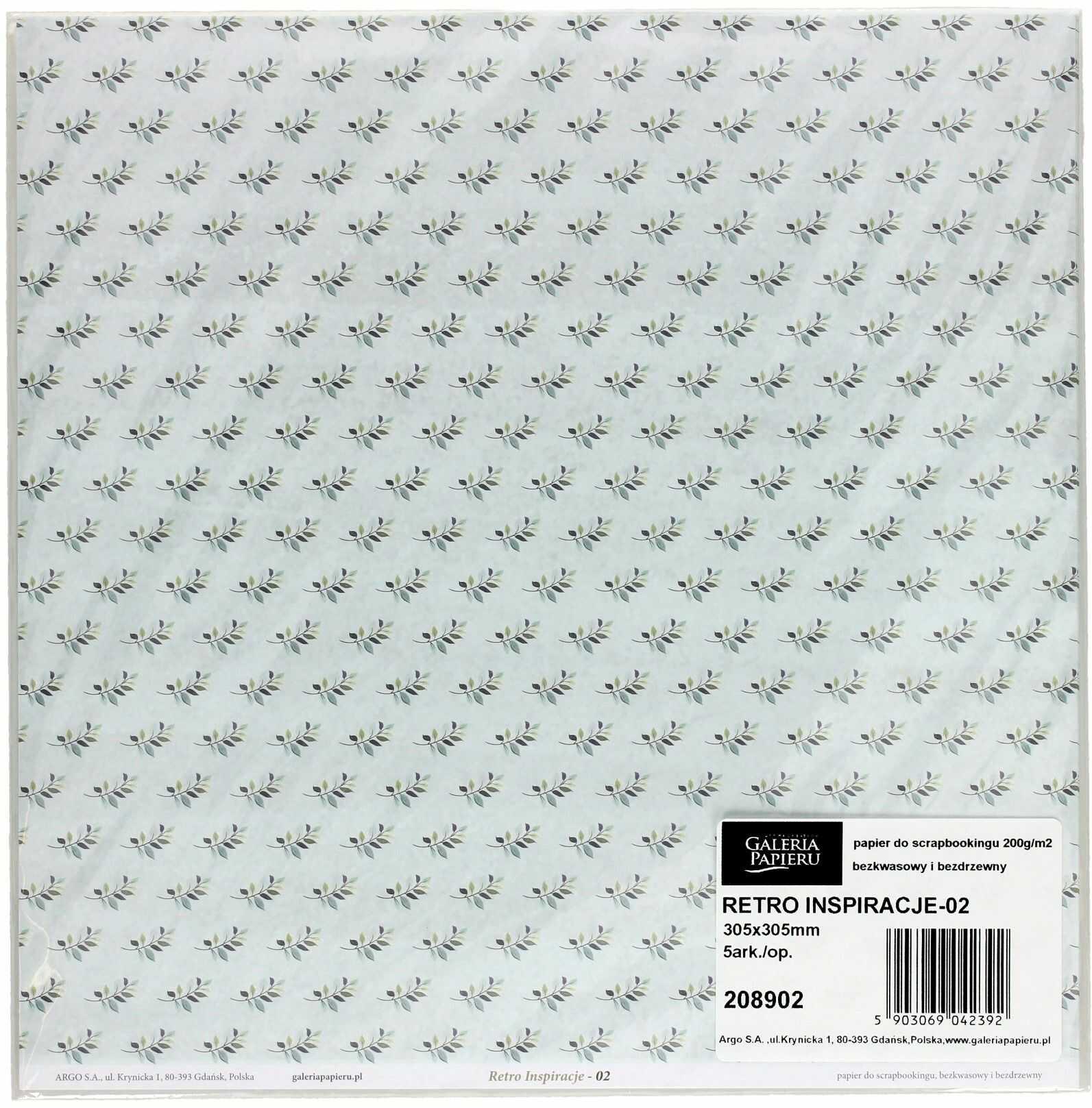 Papier scrapbooking 305x305 Retro Inspiracje/02 (5)