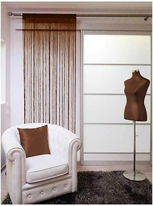 Zasłona sznurkowa LAHORE czekoladowa 60 x 90 cm