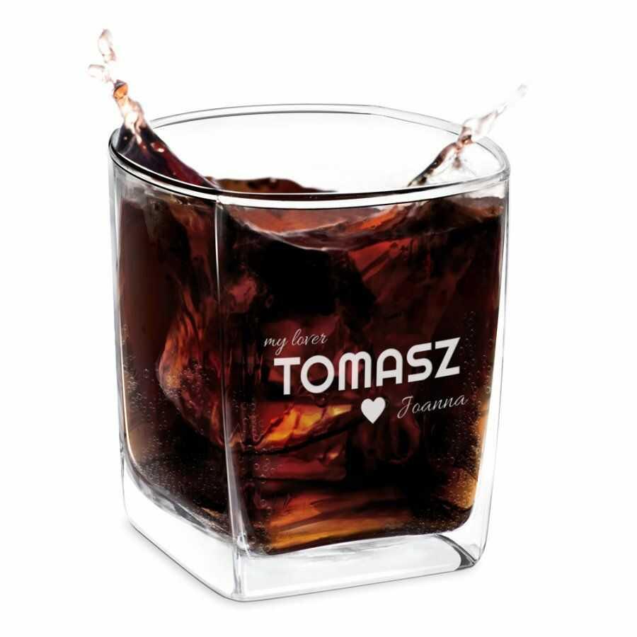 Szklanka do whisky z grawerem dla niego na walentynki