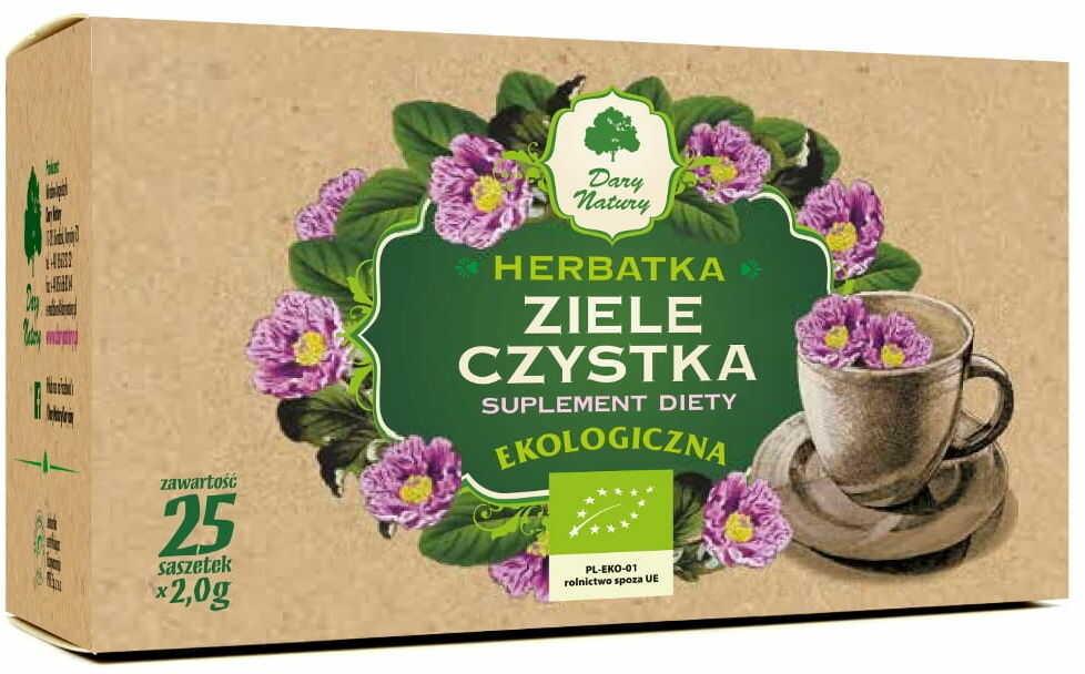 Herbatka ziele czystka bio 25 x 2 g - dary natury