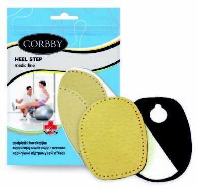 Corbby Podpiętki korekcyjne damskie Heel Step 1 para