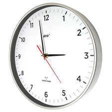 Zegar radiowy super cichy slim srebrny