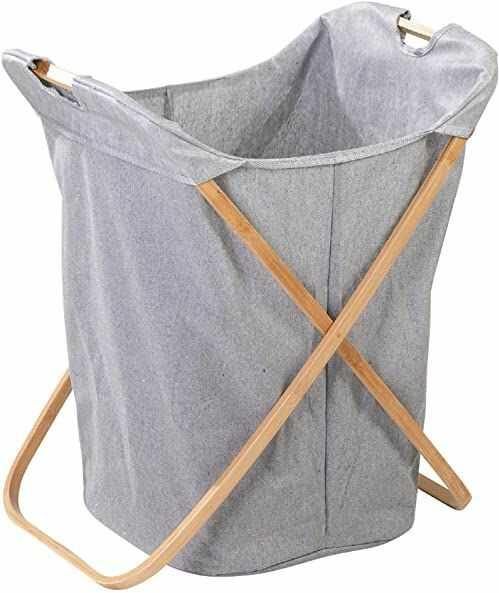 axentia Kosz na pranie, kolor drewna/szary, ok. 62 x 50 x 40 cm