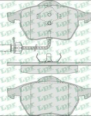 klocki hamulcowe LPR - przód z czujnikiem
