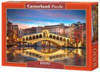 Puzzle Castor 1000 - Most Rialto nocą, Wenecja, Rialto by Night