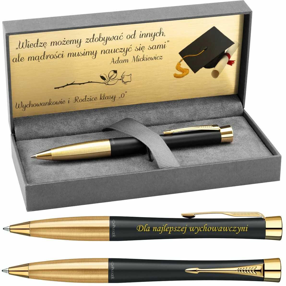 Długopis Parker Urban Czarny GT Prezent z Grawerem