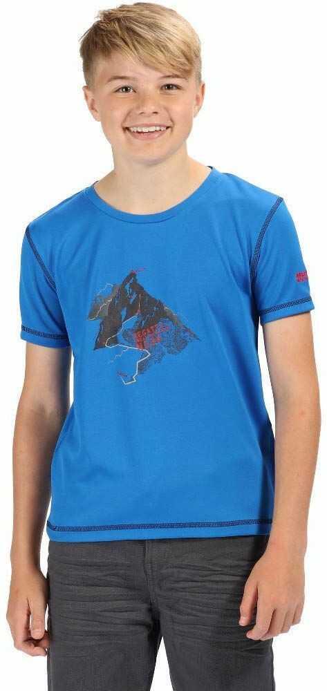 Regatta uniseks dzieci Alvarado Iv szybkoschnący ochrona UV aktywny T-shirt Oxford Blue 13 Lata