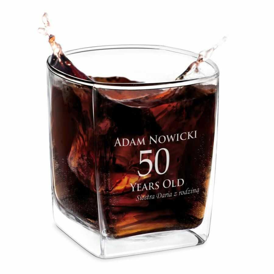 Szklanka do Whisky Grawer na 50 Urodziny