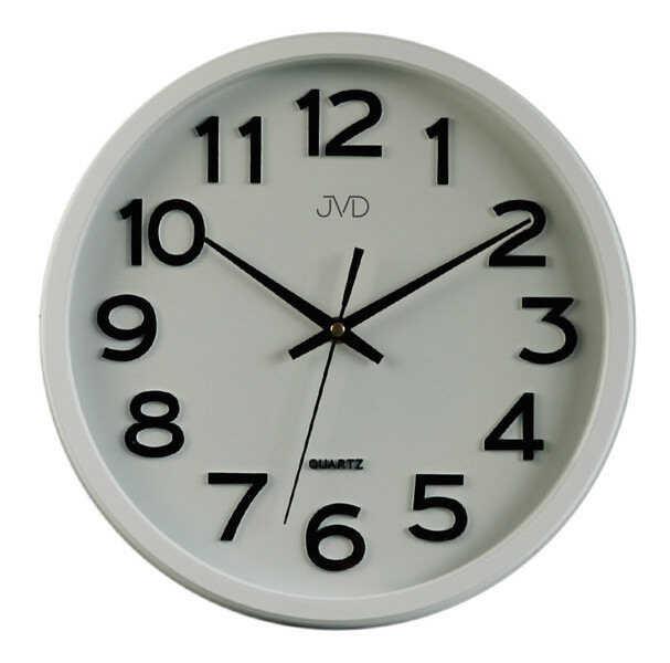 Zegar ścienny JVD HX2413.7 Cichy mechanizm - biały