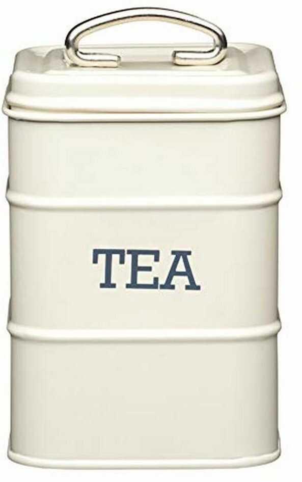 KitchenCraft Living Nostalgia metalowy pojemnik na herbatę, 11 x 17 cm