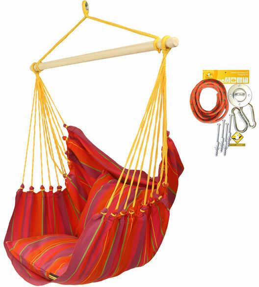 Leżak hamakowy HCXL z zestawem montażowym, pomarańczowy zhcxl289-koala/fix/ch1