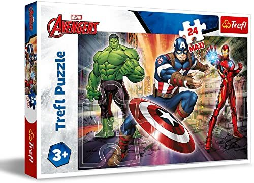 Trefl W Świecie Avengersów Puzzle 24 Maxi Disney Kraina Lodu 2 o Wysokiej Jakości Nadruku dla Dzieci od 3 lat
