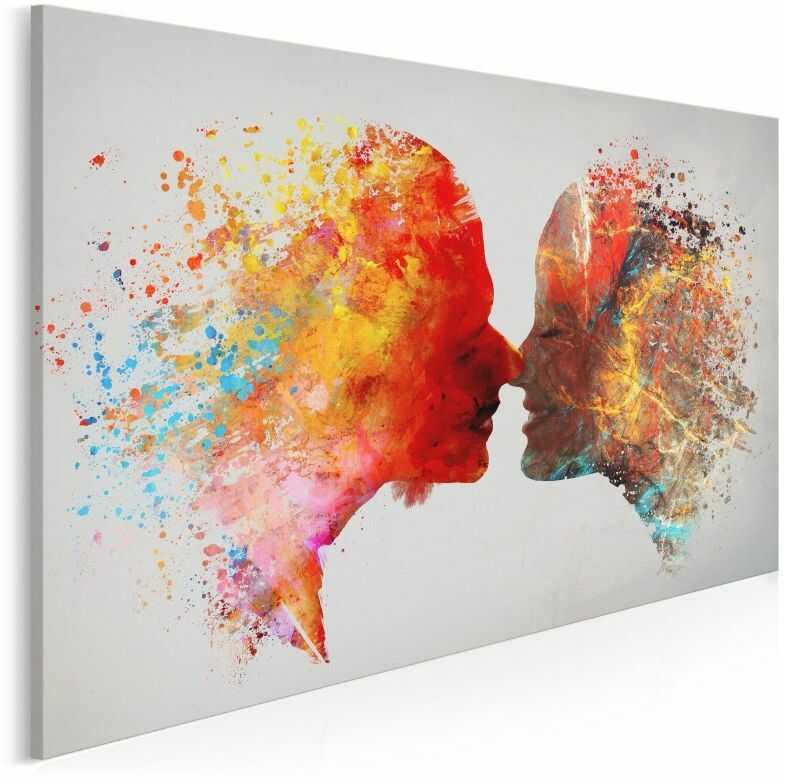 Kolory miłości - nowoczesny obraz na płótnie - 120x80 cm