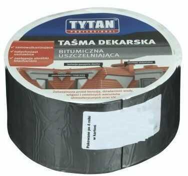 Taśma uszczelniająca dekarska Ciemnobrązowa 15 cm/10 m TYTAN PROFESSIONAL