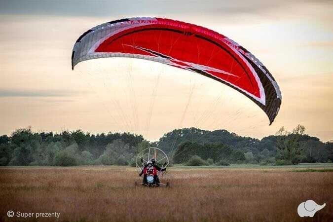 Lot Motoparalotnią nad Wartą